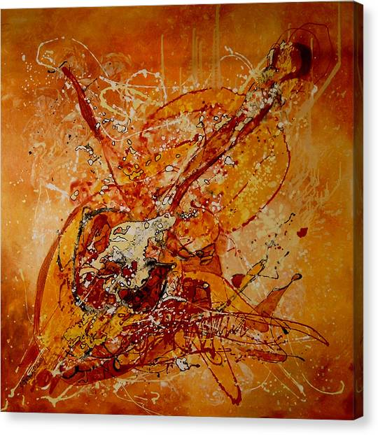 Canta Un Stradivarius Canvas Print by Elena Bissinger