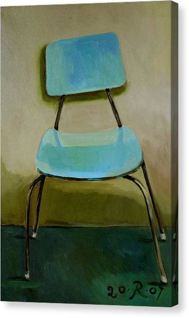 Canteen Chair Canvas Print by Raimonda Jatkeviciute-Kasparaviciene