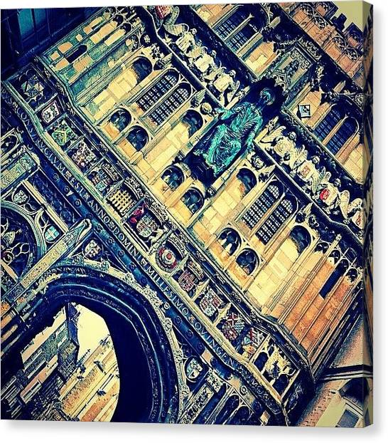 Romanesque Art Canvas Print - #canterburycathedral #cathedral by Jennii Booth