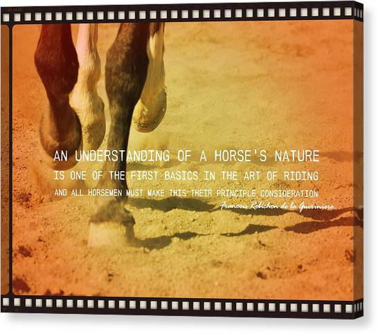 Cantering Along Quote Canvas Print by JAMART Photography