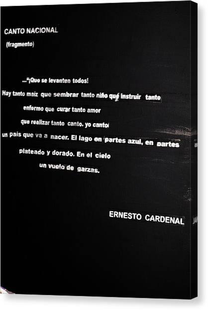 Canto Nacional  Canvas Print