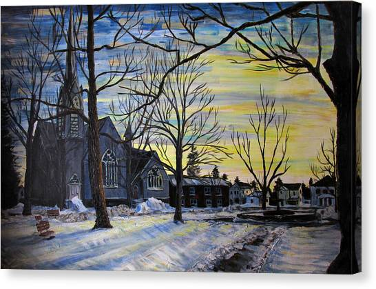 Canton Park Under January Sun Canvas Print