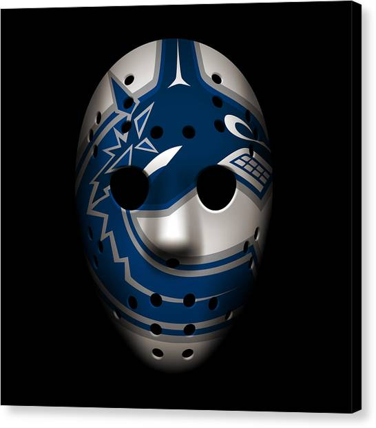 Vancouver Canucks Canvas Print - Canucks Goalie Mask by Joe Hamilton