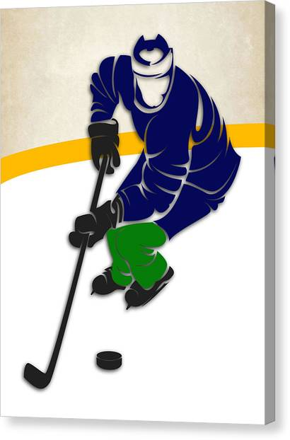 Vancouver Canucks Canvas Print - Canucks Hockey Rink by Joe Hamilton
