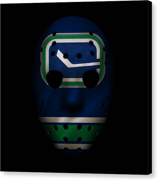 Vancouver Canucks Canvas Print - Canucks Jersey Mask by Joe Hamilton