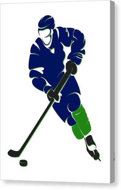 Vancouver Canucks Canvas Print - Canucks Shadow Player by Joe Hamilton