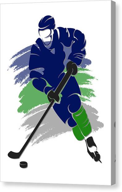 Vancouver Canucks Canvas Print - Canucks Shadow Player2 by Joe Hamilton