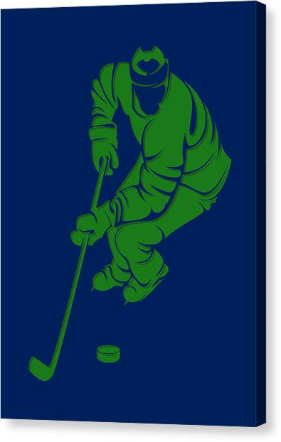 Vancouver Canucks Canvas Print - Canucks Shadow Player3 by Joe Hamilton