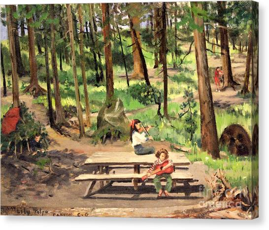 Canyon Campground - Yellowstone  1950's Canvas Print
