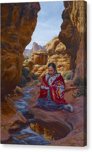 Canyon Cathedral Canvas Print