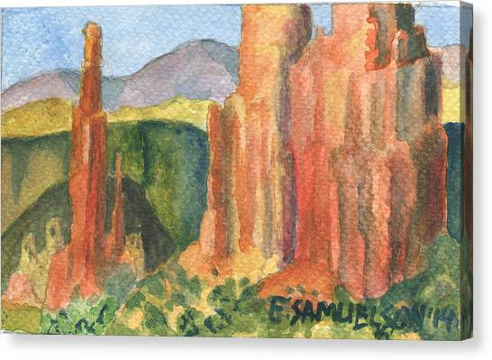 Canyon De Chelly Fantasy Canvas Print