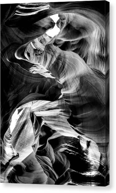 Black Top Canvas Print - Canyon Flow by Az Jackson
