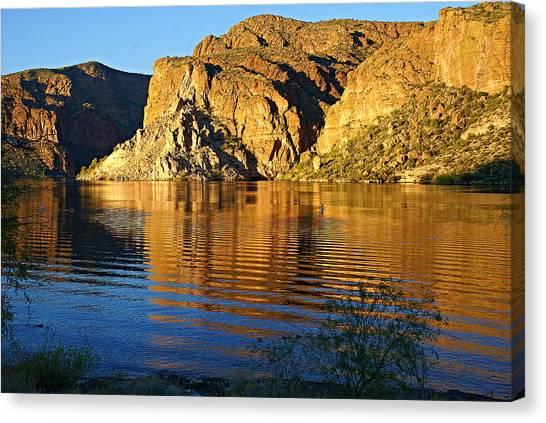 Canyon Lake Reflections Canvas Print