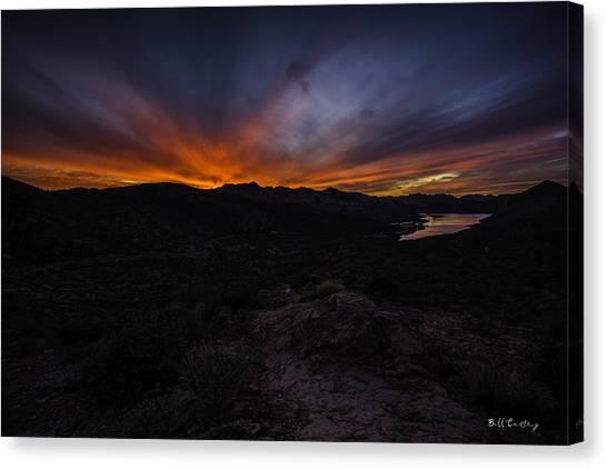 Lake Sunrises Canvas Print - Canyon Lake Sunset by Bill Cantey