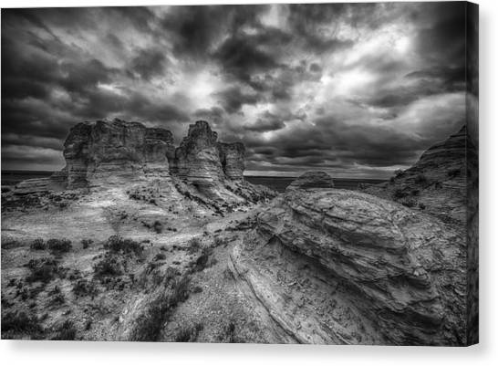 Canyon Light And Clouds Canvas Print by Garett Gabriel