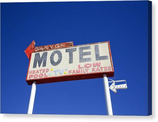 Canyon Motel Sign Canvas Print