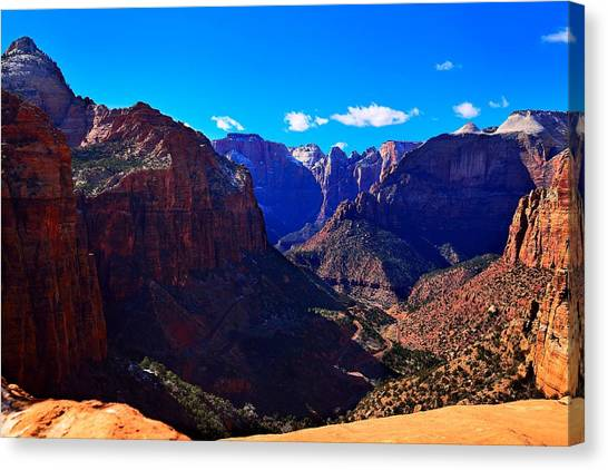 Canyon Overlook Trail Canvas Print
