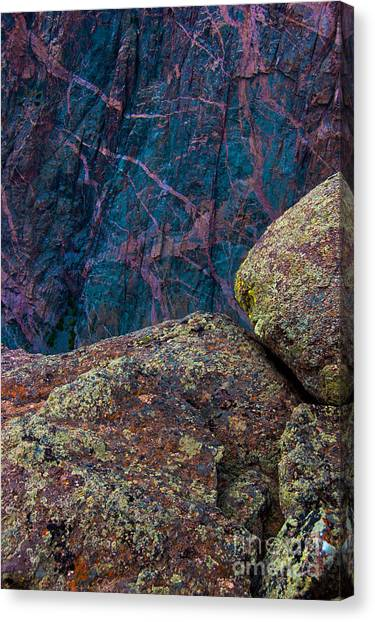 Canyon Rock Abstract Canvas Print