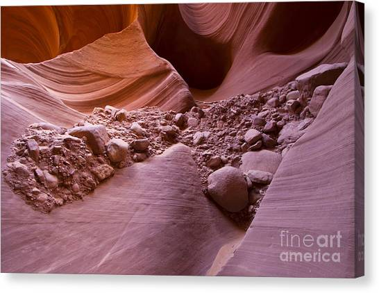 Canyon Rocks In Abundance  Canvas Print