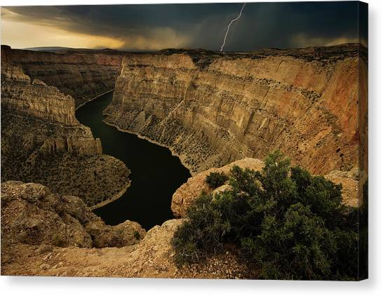 Lightning Canvas Print - Canyon Storm by Doug Roane