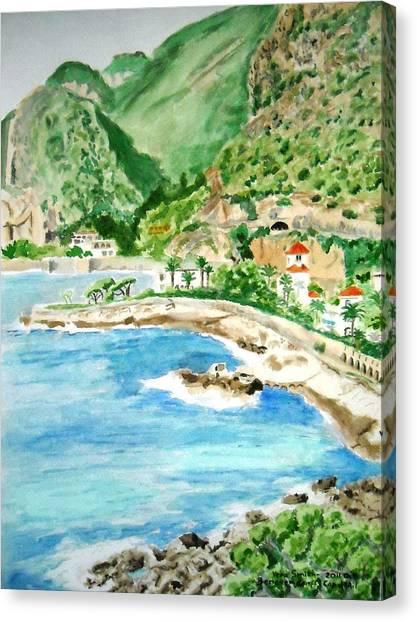 Cap D'ail On A Sunny Day  Canvas Print