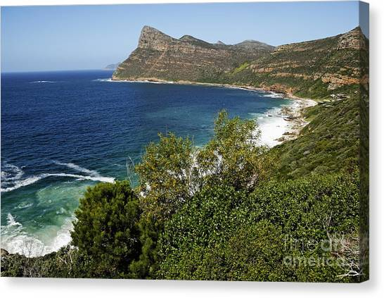 Cape And Cliffs Nearby Cape Point Canvas Print by Sami Sarkis