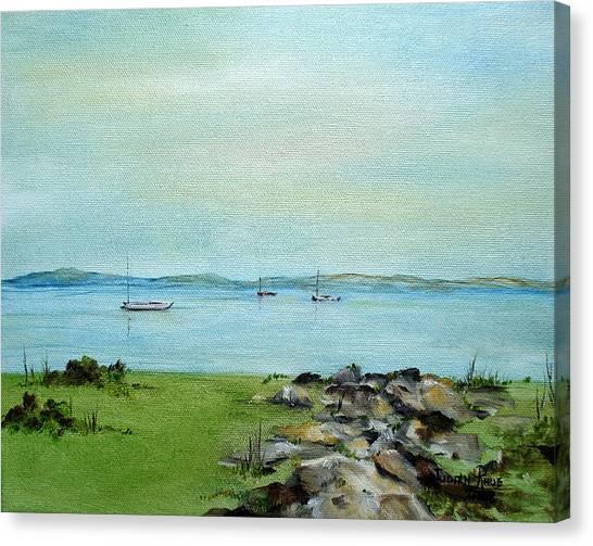 Cape Cod  Boats Canvas Print