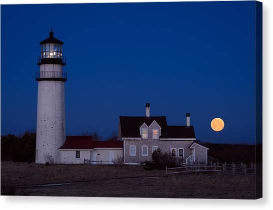Cape Cod Moonset Canvas Print