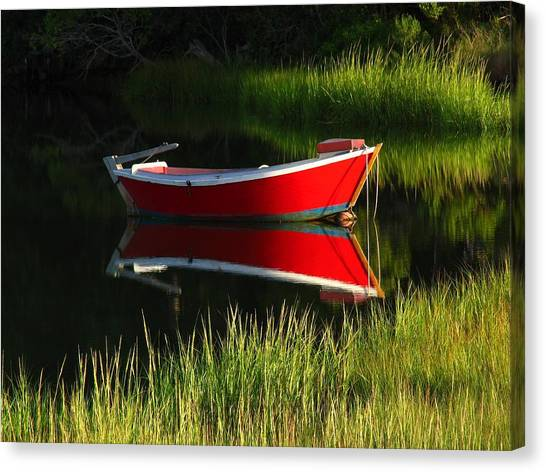 Dinghy Canvas Print - Cape Cod Solitude by Juergen Roth