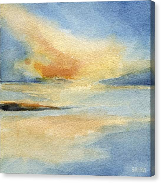 Cape Cod Sunset Seascape Painting Canvas Print