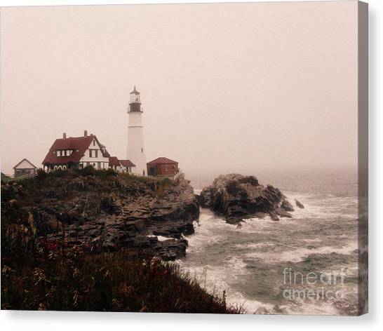 Cape Elizabeth In The Mist Canvas Print