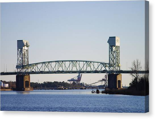Cape Fear Memorial Bridge Canvas Print