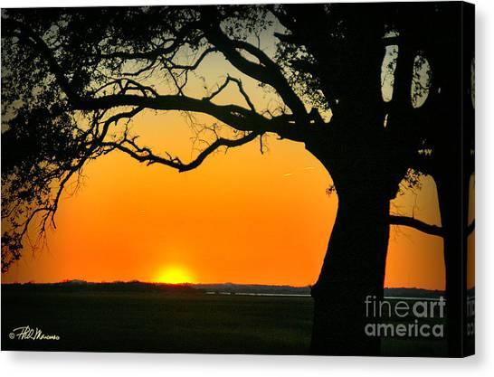 Cape Fear Sunset 2 Canvas Print