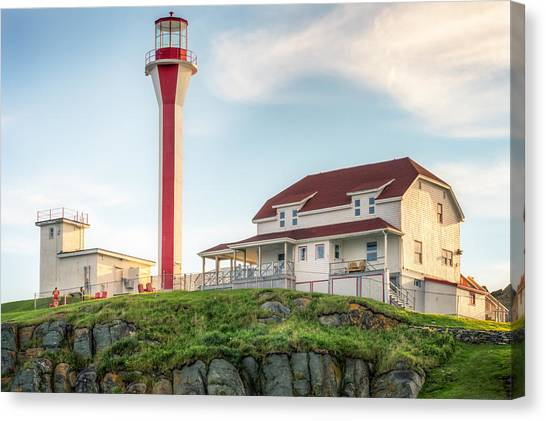 Canvas Print featuring the photograph Cape Forchu Lighthouse by Garvin Hunter