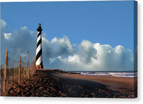 Cape Hatteras Lighthouse Canvas Print - Cape Hatteras Lighthouse Nc by Skip Willits
