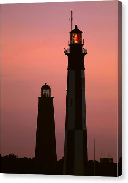 Cape Henry Lighthouses  Canvas Print
