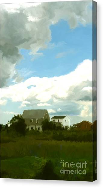Marthas Vineyard Canvas Print - Cape House by Paul Tagliamonte