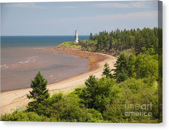 New Brunswick Canvas Print - Cape Jourimain Lighthouse In New Brunswick by Elena Elisseeva