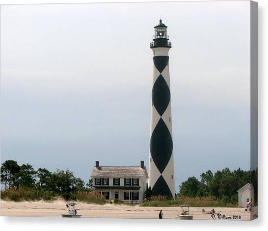 Cape Lookout Lighthouse Canvas Print