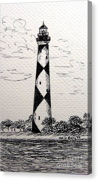 Cape Lookout Lighthouse Nc Canvas Print