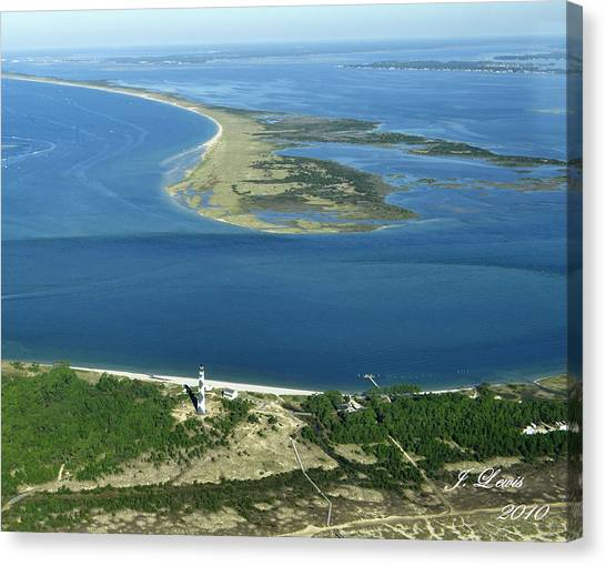 James Lewis Canvas Print - Cape Lookout Looking Down Shakleford Banks by James Lewis