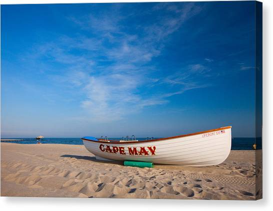 Canvas Print featuring the photograph Cape May by Brad Brizek