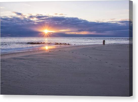 Cape May Point Winter Sunset Canvas Print
