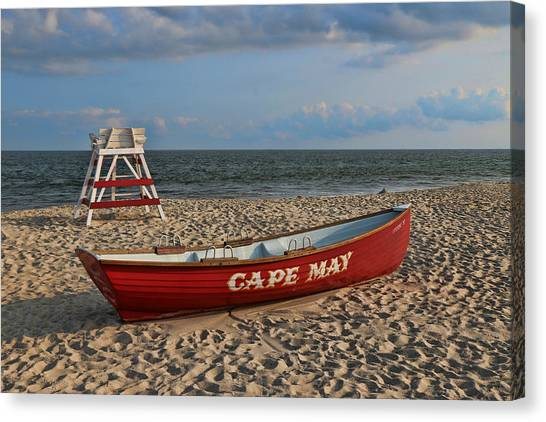 Cape May N J Rescue Boat Canvas Print