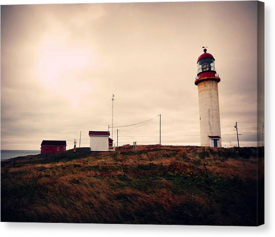 Newfoundland And Labrador Canvas Print - Cape Race Lighthouse by Zinvolle Art