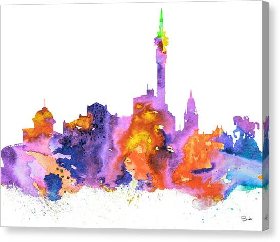 Cape Town Canvas Print - Cape Town by Watercolor Girl