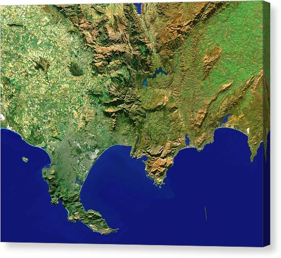 Cape Town Canvas Print - Cape Town Region by Worldsat International/science Photo Library