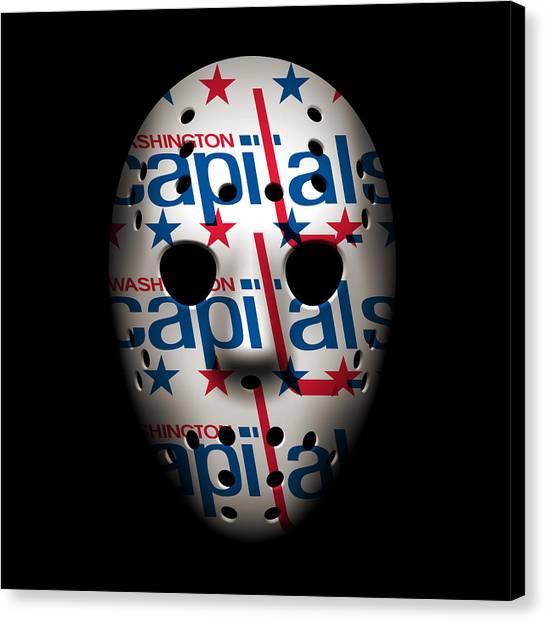 Washington Capitals Canvas Print - Capitals Goalie Mask by Joe Hamilton