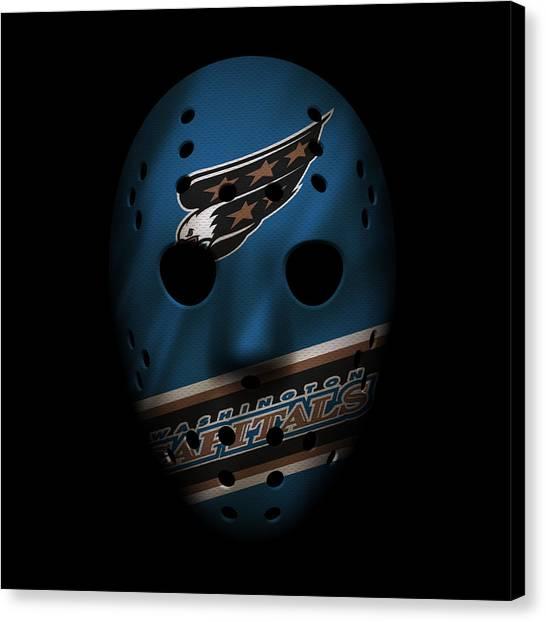 Washington Capitals Canvas Print - Capitals Jersey Mask by Joe Hamilton