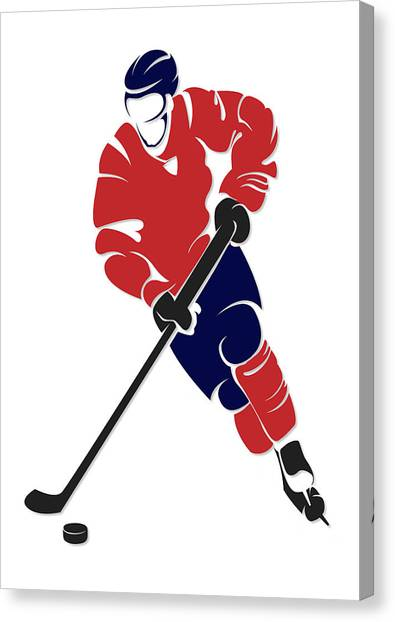 Washington Capitals Canvas Print - Capitals Shadow Player by Joe Hamilton